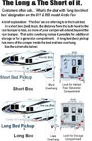Truck Camper Size Chart Northwood Arctic Fox Truck Camper