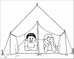 Small Picture Tent Coloring Page diaetme