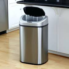 kitchen trash can garbage cans cabinet unique for cabinets 13 gallon home depot