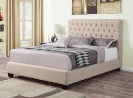 Absorbing Beige Fabric Queen Size Bed Coaster Q Beige Queen Size Fabric Bed  in Queen Bed