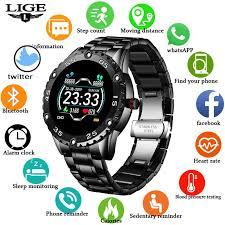 New <b>Smart Watch Men</b> IP67 Waterproof Fitness Tracker Heart Rate ...