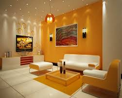 Enticing Living Room Design Style Comes With White Ceramic Floor Adorable Wall Painting Living Room Creative