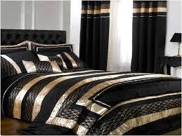 image of black and gold comforter sets king