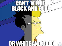 Can't tell if black and blue or white and gold. : memes via Relatably.com