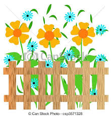 picket fence drawing. Garden Pencil And In Color. Fence Clipart Flower Drawing. Picket Fence Drawing