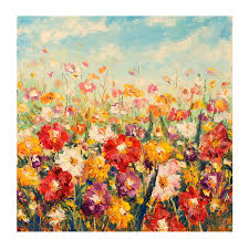 outdoor canvas art. Floral Palette All-Weather Outdoor Canvas Art