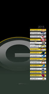 green bay packers schedule wallpaper