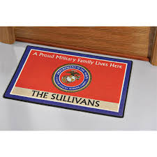Personalized Military Doormat - 118843, Outdoor Rugs at Sportsman's ...
