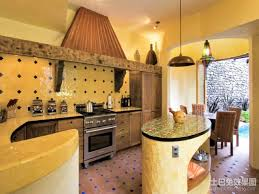 Yellow Paint For Kitchen Walls Kitchen Alluring Mexican Kitchen Idea With Yellow Wall Color And