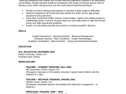 Preschool Student Teacher Resume Template Graduate Cv Teaching ...