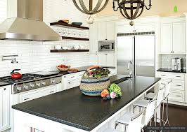countertops for white kitchen cabinets black white subway tiles best countertop color for white kitchen cabinets