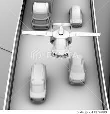自動運転 高速道路 自動運転車 渋滞のイラスト素材 Pixta
