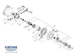 shower spares for grohe avensys traditional concealed 34114 il0 shower spares for grohe avensys classic dual exposed