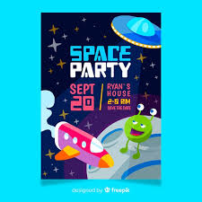 Space Party Invitation Birthday Party Invitation For Little Boy With Space Theme