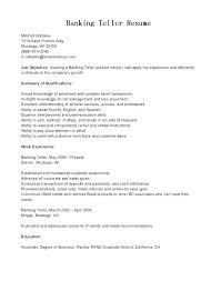Resume Skills For Bank Teller Beauteous Beautiful Sample Resume For Bank Jobs For Freshers Or Example Resume