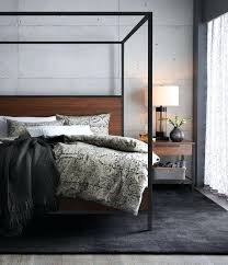 crate and barrel bedroom crate and barrel walnut with black frame canopy bed vs industrial natural crate and barrel bedroom