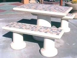tiled garden tables mosaic