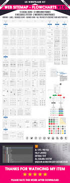 web sitemap c flowcharts v1 0 light version this template provides many of elements for creating visual flowcharts and