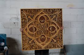 mesmerizing laser cut wood wall art feature layers of intricate patterns laser cut art