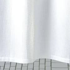 white waffle shower curtain long white shower curtain extra