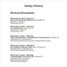 How To Salary History 15 Resumes With Salary History Salary Format