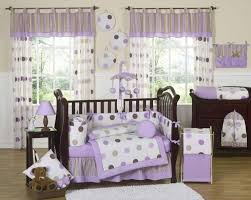 mod dots white and light purple baby girl bedding sets
