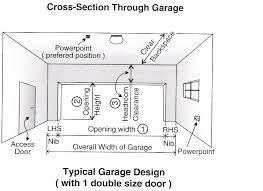 garage door sizeDimensions