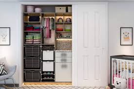 adjule baby closet with built in hampers and counter kid s closets 5
