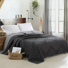 quilted bedding set cotton embroidery