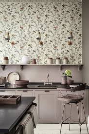 Modern Wallpaper For Kitchen Wallpaper Great Ormond Street Signature Kitchen Units Painted