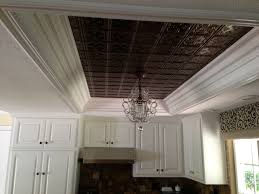kitchen ceiling tiles and hanging light replace dated fluorescent lighting