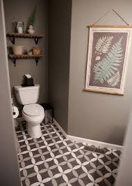 our gray white half bathroom remodel