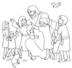 Love Coloring Sheets For Children Jesus Loves The Little Children