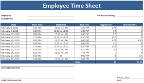 Excel Employee Time Sheet Employee Timesheet Template Weekly And Monthly