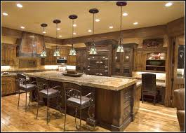 french country kitchen island lighting photo 14