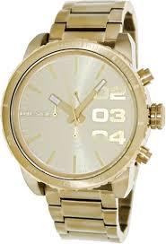 gold men watches diesel dz4268 mens franchise gold chrono watch gold watches for men diesel