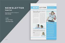 Simple Free Editable Newsletter Templates For Word