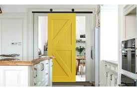 antique yellow single clic sliding barn door track kit for single door 2 44m