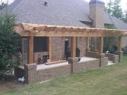 Build A Concrete Patio Attached Pergola Designs Pergola Build Over Concrete Patio On