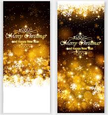 Golden Light With Snowflake Christmas Vertical Banner Vector Free