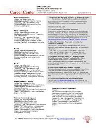 Employer List Fall Job And Internship Fair 2010 Updated 9 23