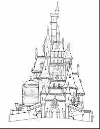 simple disney castle drawing pages disney castle coloring page