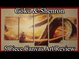 Goku & Shenron <b>5 Piece Canvas</b> Unboxing/Review - YouTube