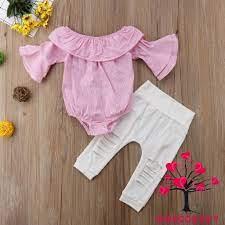 Bộ Áo Thun + Quần Dài Họa Tiết Hoa Thời Trang Cho Bé Gái Sơ Sinh 1g2 |  Quần, Váy bé gái