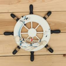stylish idea ship wheel wall decor captains home decorating ideas wood boat fishing nautical beach rudder large decoration steering