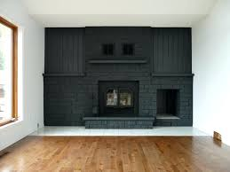 paint colors living room red brick fireplace dark gray painted focal wall on fireplace mantel paint colors