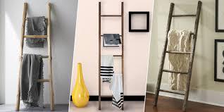 Diy Blanket Ladder 2017s Best Blanket Ladders For Throws Display Blankets On