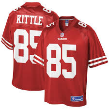 San Scarlet Jersey Pro Line Player Youth Francisco Team Nfl 49ers George Kittle