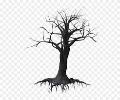 Dark Vector Creepy Forest Spooky Tree Transparent Background Hd