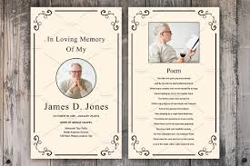 Funeral Card Templates Free Funeral Prayer Card Template Card Templates Creative Market 23